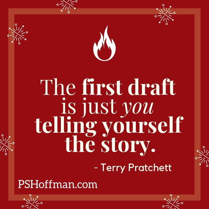 Terry Pratchett Quote on First Drafts