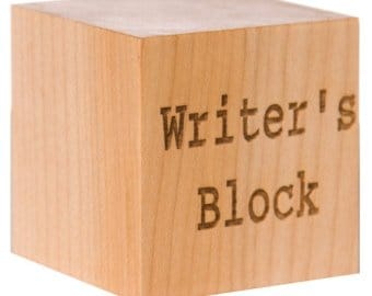 A block of wood called Writer's Block